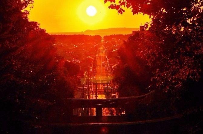 宮地嶽神社の光の道、鑑賞イベント開催