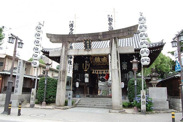 博多の総鎮守 櫛田神社です