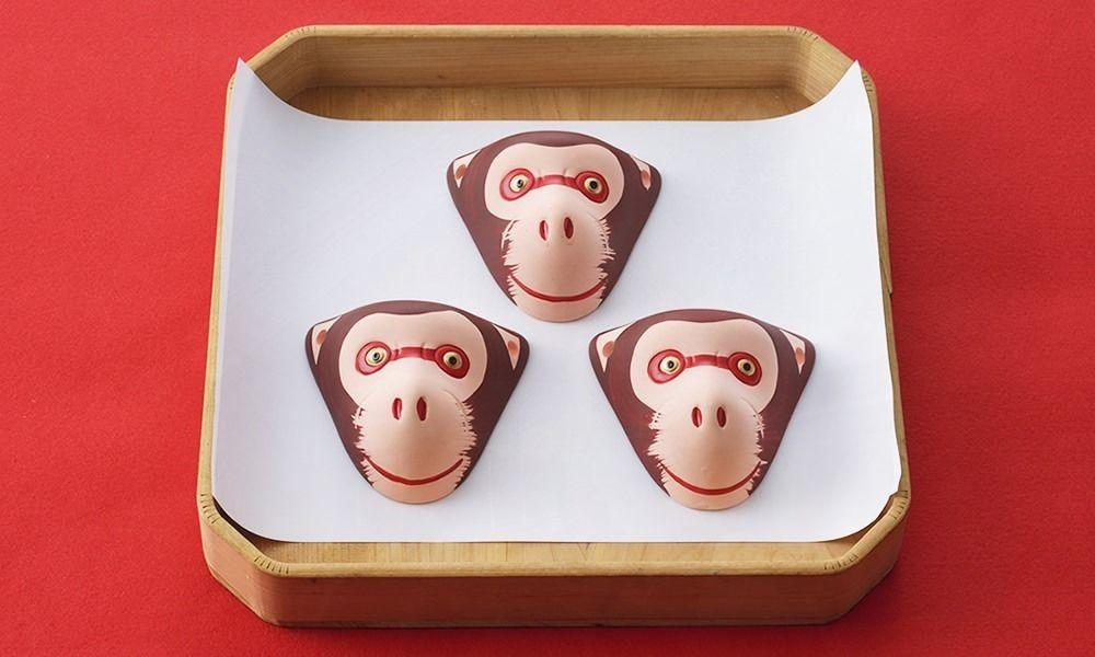 福岡では魔除けに自宅の玄関に猿のお面を掛けます