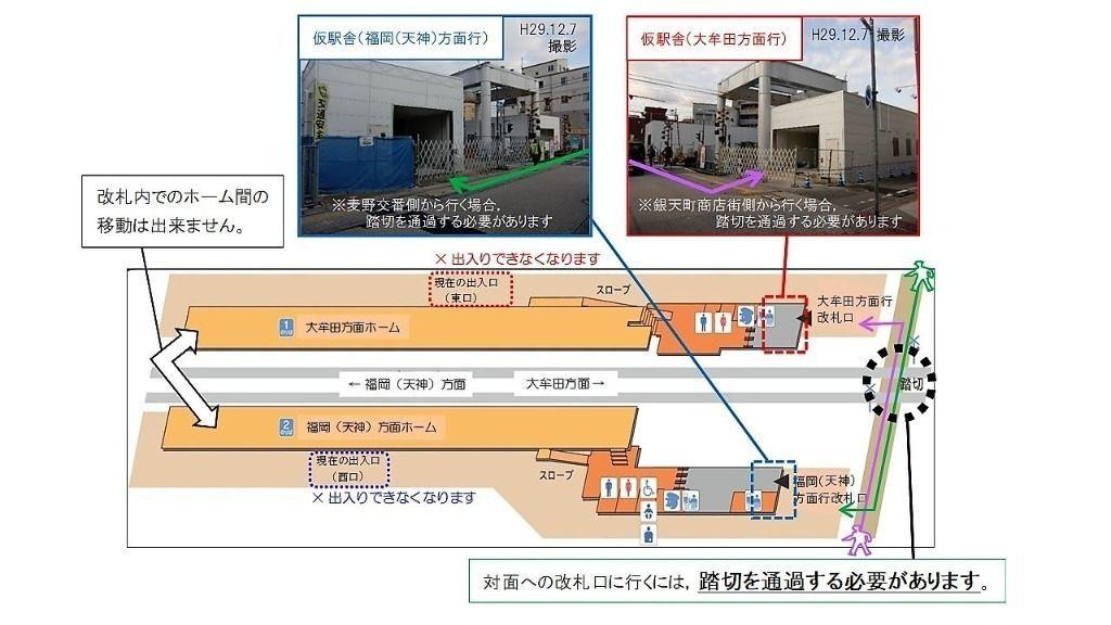 雑餉隈駅仮駅舎の利用方法