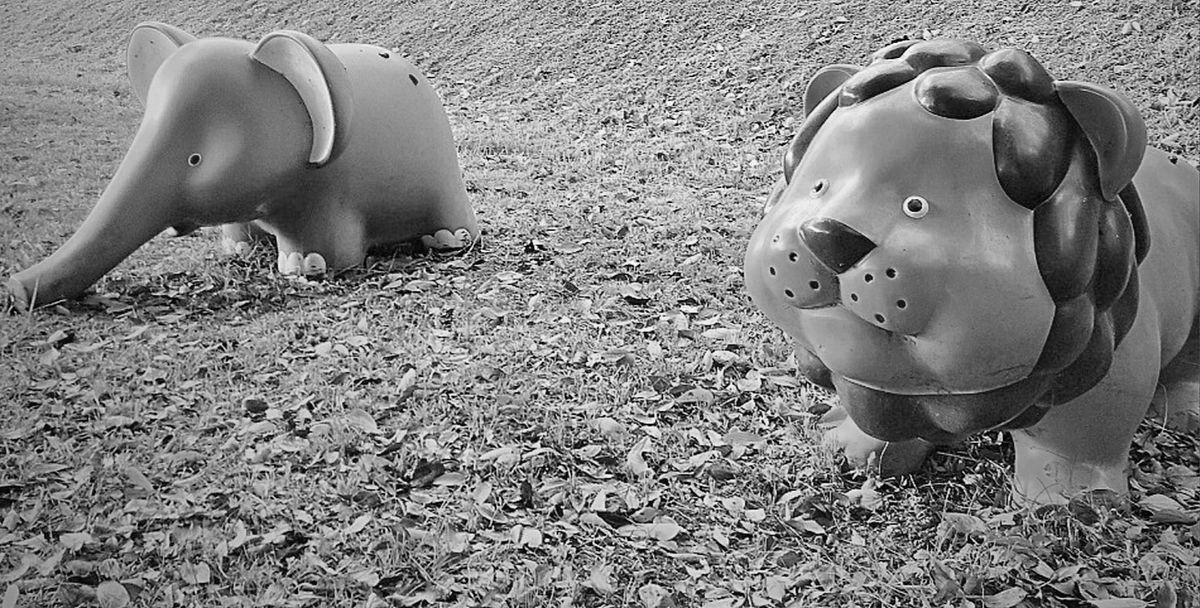 福岡市の公園にあるおもしろい動物の遊具