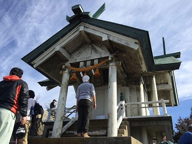 福岡県の宝満山の山頂です